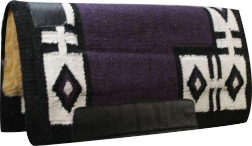 32 x34  lila Wool Top Western Cutter Style Saddle Pad w  Diamond Design  NEW