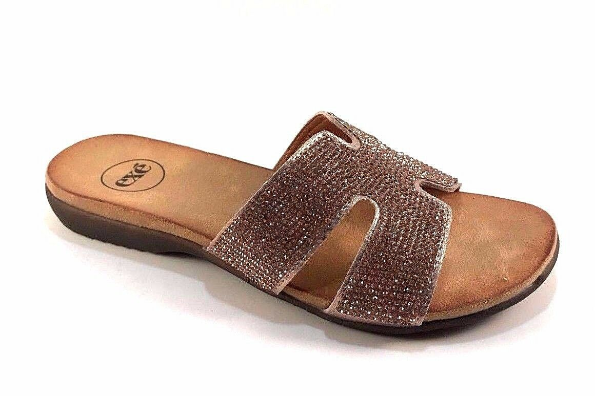 Exe Exe Exe BZY6708-26 Slip On Flat Dressy Sandals Choose Sz color 725d61