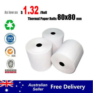 50/100 Rolls 80x80mm Thermal Paper Rolls Cash Register Receipt Roll