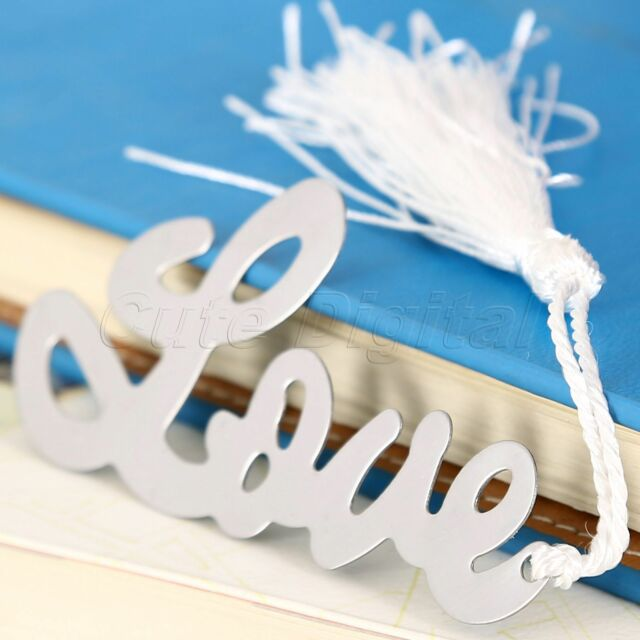 Romantic Love Style Alloy Bookmark Wedding Ribbon BOX Business Exquisite Gift