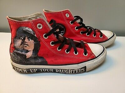 Converse Chuck Taylor All Star AC/DC Lock Up Your Daughters Hi-Top Sneakers Sz 5 | eBay
