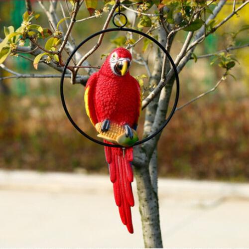 Hängende Zaun Papagei auf Ständer Dekofigur Wanddeko Vogel Figur Ornament
