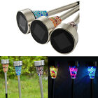 12 Pack Outdoor Stainless Steel LED Solar Power Light Color Changing Ground Lamp