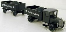 WIKING/Roskopf NEW HO 1/87 Old Time Mercedes Benz Tractor Trailer w/Coal Loads