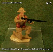 """Original Hausser Elastolin Steckfigur WWII 2WK """"DEUTSCHER-SOLDAT-AFRIKAKORPS"""""""