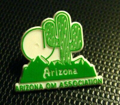 Arizona Cactus Green Gold Tone Vintage Lapel Pin