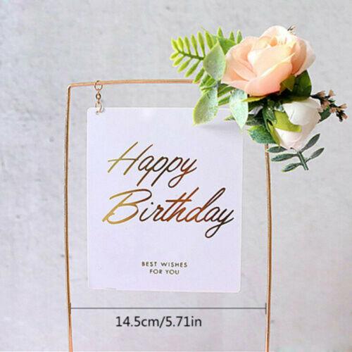Acrylic Cake Topper Glitter Gold Birthday Wedding Party Cake Dessert Decorations