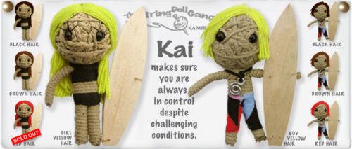 Kamibashi Kai the Surfer Boy The Original String Doll Gang Keychain Clip