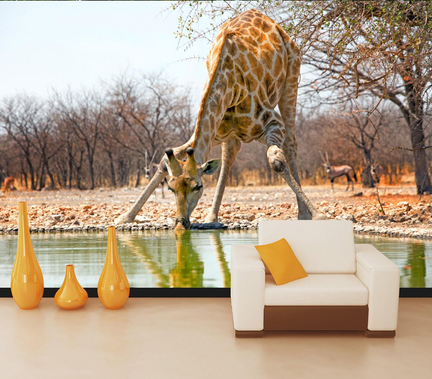 3D Elegant Giraffe 80 WallPaper Murals Wall Print Decal Wall Deco AJ WALLPAPER