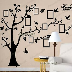 Image Is Loading Huge Family Tree Photo Frame Birds Wall Stickers  Part 66
