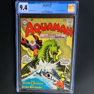 Aquaman-9-1963-CGC-9-4-OW-W-Rare-Ad-for-Metal-Men-1-DC-Comics