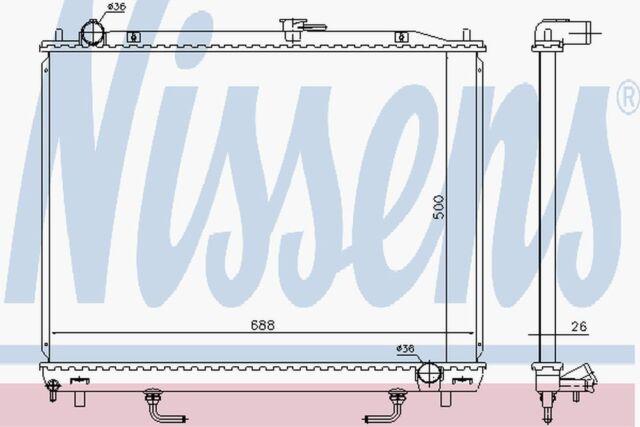 Nissens Radiador 628959 Compatible con Mitsubishi Montero/Shogun