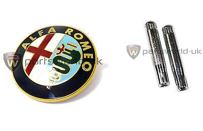 Alfa Romeo Gtv6 & Spider Griglia Anteriore / Stemma Cofano E Coppia Di Porta Perni Di Bloccaggio-