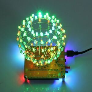LED-Cubic-Ball-DIY-Kit-3mm-RGB-LED-Light-Cube-Electronic-Kit-w-Remote-Control
