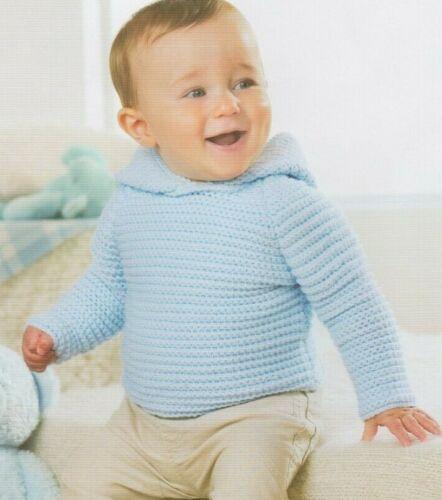nacimiento - 2yrs Patrón de ganchillo-Bebé Chicos Capucha y zapatos 0502