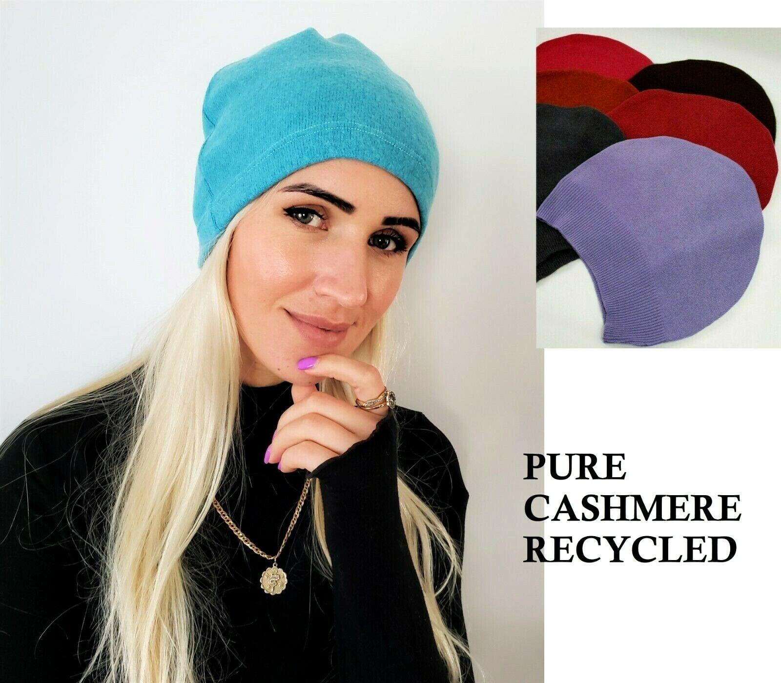 # 100% Pure Cashmere Sombrero Gorro de Lana Hombre Mujer Unisex Hecho a Mano A004