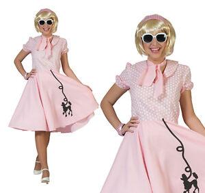 Donna 1950s Blue Rock N Roll 50s Costume da donna adulto vestito nuovo