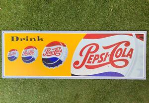 Pepsi Vintage Style Iconic Australian Tin Sign Milk Bar NEW