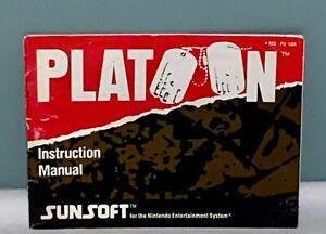 Platoon-NES-Nintendo-SunSoft-Instruction-Manual-Only-NO-GAME