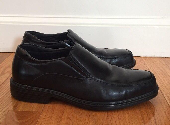 Giorgio Brutini Leather Mens Size 8M Black Leather Brutini Slip On Dress Shoe Loafers 3ebb96