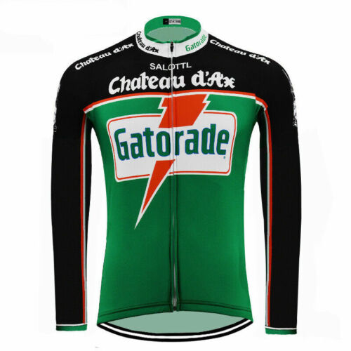 Brand New Team Gatorade Chateaux D/'ax Fleece Thermal cycling Long Sleeve Jersey