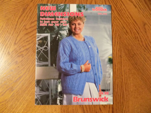 1987 BRUNSWICK NEW DIMENSIONS Vol 876 Knitting Patterns Directions Booklet