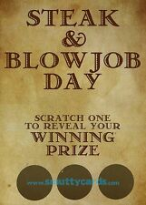 Steak & Blowjob Day SCRATCH Card ~ March 14th ~ The Male Valentines Day!