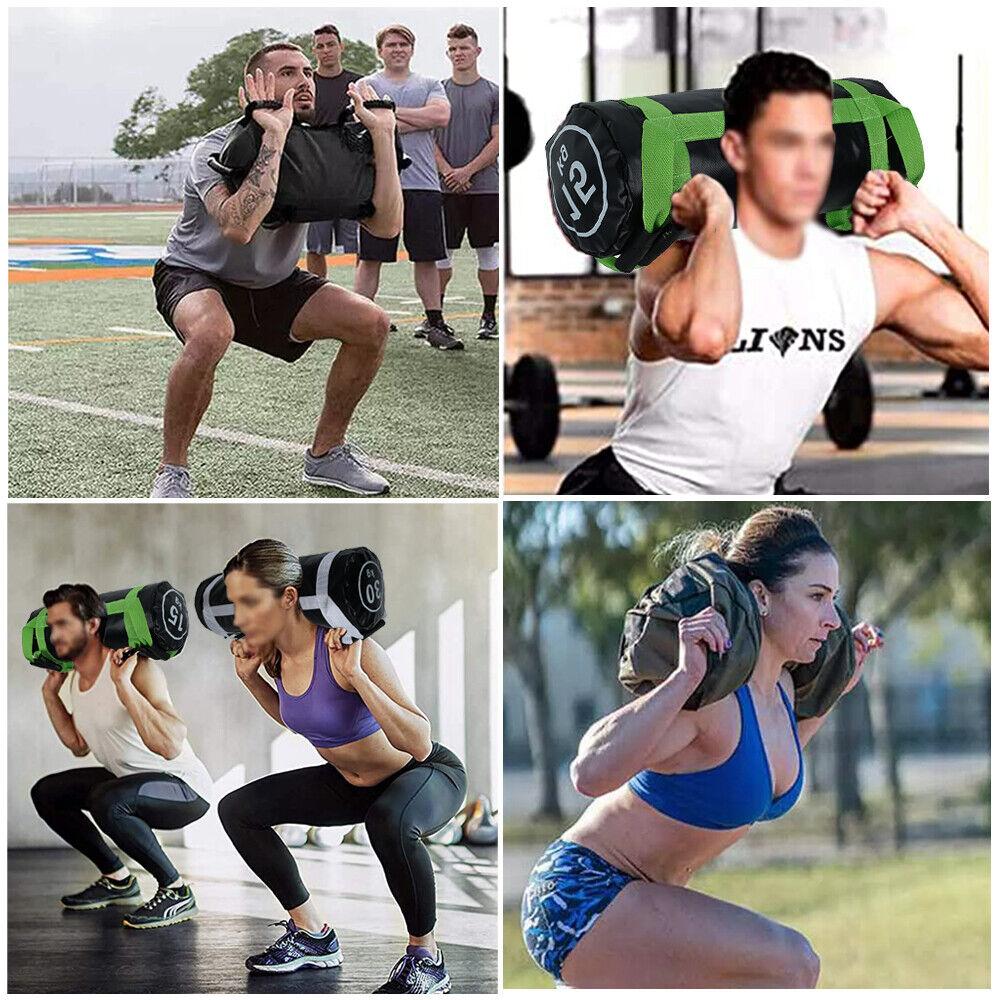 Image 4 - 30KG Power Bag Weight Lifting Training Weighted Sandbag Gym Exercise Fittness UK