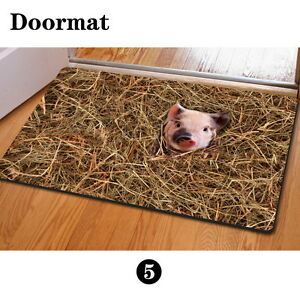 Image Is Loading Pig Personalized Floor Funny Doormat Carpet Area Rug