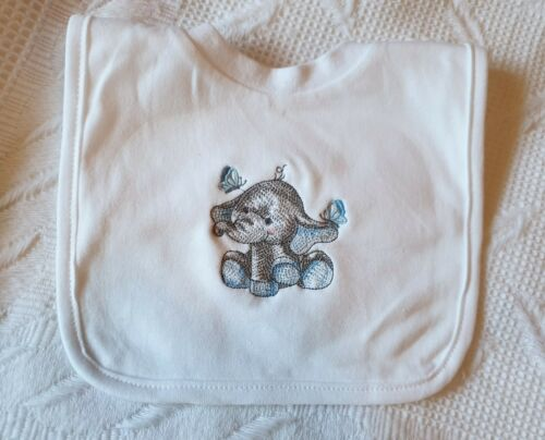 Baby Shower Personalised Embroidered Baby ANY NAME Toddler Bib Gift Cute.