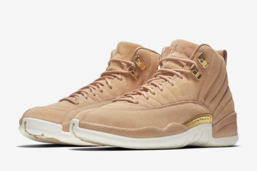 wholesale dealer 529d2 27939 Air Jordan 12 XII Retro Womens A06068-203 Vachetta Tan Sail Gold Shoes Size  5 for sale online   eBay