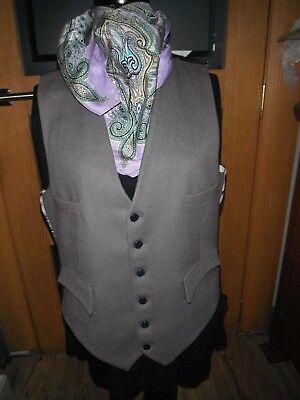 """Intelligente Vintage Lloyd 40"""" Pura Lana Grigio Doe Pelle Men's Gilet/gilet 4 Tasche.-mostra Il Titolo Originale Assicurare Anni Di Servizio Senza Problemi"""