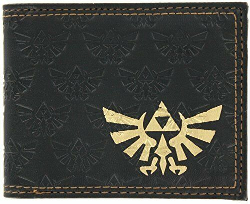 Zelda All Over Emboss With Gold Foil Bi-Fold Wallet 2 x 2in