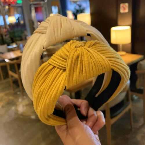 Women/'s cravate Serre-tête Noeud Bande Large Bandeau Alice Hair Band Cerceau Accessoires