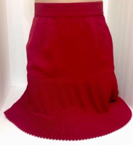 Mugler Skirt Wine Pleated Size 2