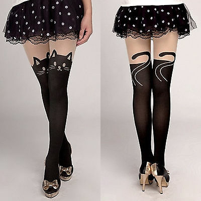 Neu Mode Sexy Strumpfhose Tattoo Tights Katze Overknees Lolita Cosplay Leggings