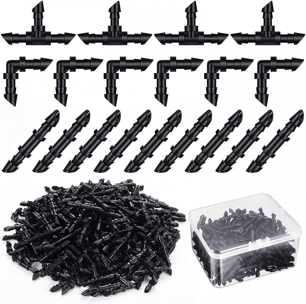 240 Pieces Drip Irrigation Fittings Kit for 1/4 Inch Tubing, 80 Barbed...