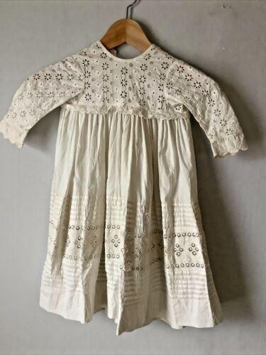Antique Victorian Edwardian Young Girls White Cott