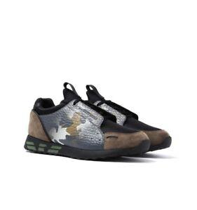 Emporio-Armani-sneaker-uomo-Camouflage-Scarpe-Da-Ginnastica-in-Pelle-Scatola-Sportswear-danneggiato