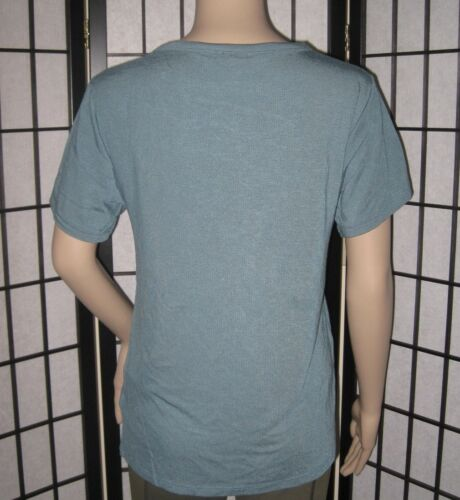 NWT EXPRESS BLUE TURQUOISE TEAL BLACK LACE UP STRAPPY GIRLFRIEND TEE SHIRT TOP