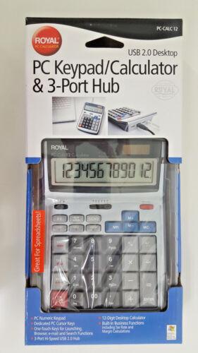 New Royal PC-CALC 12 PC Keypad Calculator and 3 Port Hub