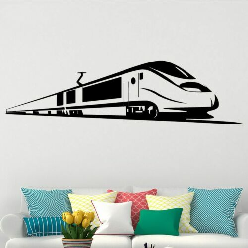 Bullet Train Wall Stickers Home Decor Removable Living Room Backgurand Home