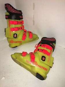 DACHSTEIN-Racing-Ski-Boots-US-Men-Size-7-5-25-5-Mondo-Yellow-Retro-Vintage