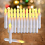 Raycare Set of 24 Flamelesss LED Taper Candles with Warm White Flickering Flame