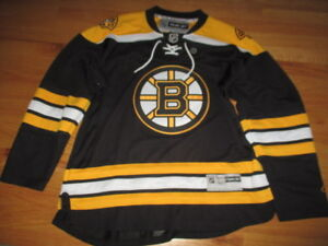 half off 8fd92 9c0c0 Details about Reebok CCM BOSTON BRUINS (XL) 3rd Hockey Bear Jersey w/ Ties