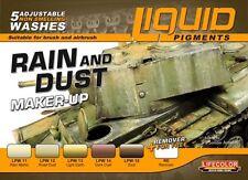 Lifecolor LFC-LP3 Rain & Dust Weathering Liquid Pigments Set (6 22ml Bottles)