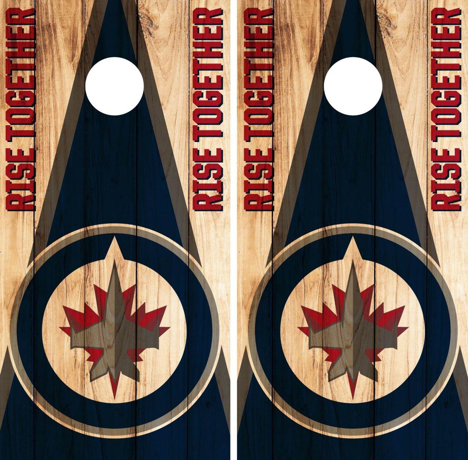 Winnipeg Jets Cornhole Wrap NHL Game  Board Skin Set Vinyl Decal Art Decor CO365  factory direct