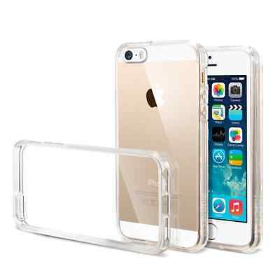 iPhone 5/5S/SE Case - Transparent Crystal Clear Soft Thin Flexible TPU Cover