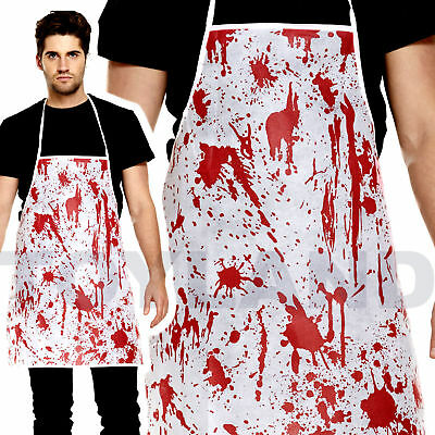 Blood Splatter Bloody Apron Prop Butcher Nurse Doc Chef Zombie Halloween Costume
