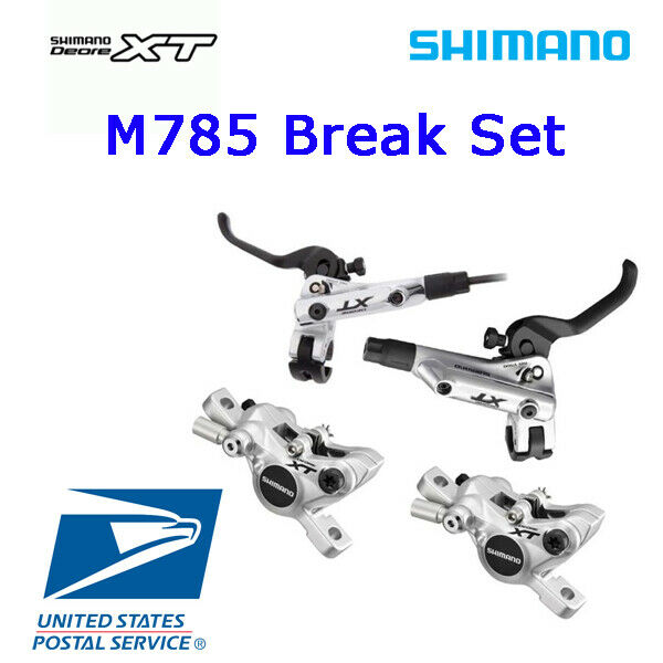 Shimano XT M785  Brake Lever Hydraulic Front & Rear Set RT81 RT86 Sliver MTB  up to 65% off